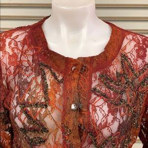 Chico's Tops - Chico's size 1 (s) great fall blouse